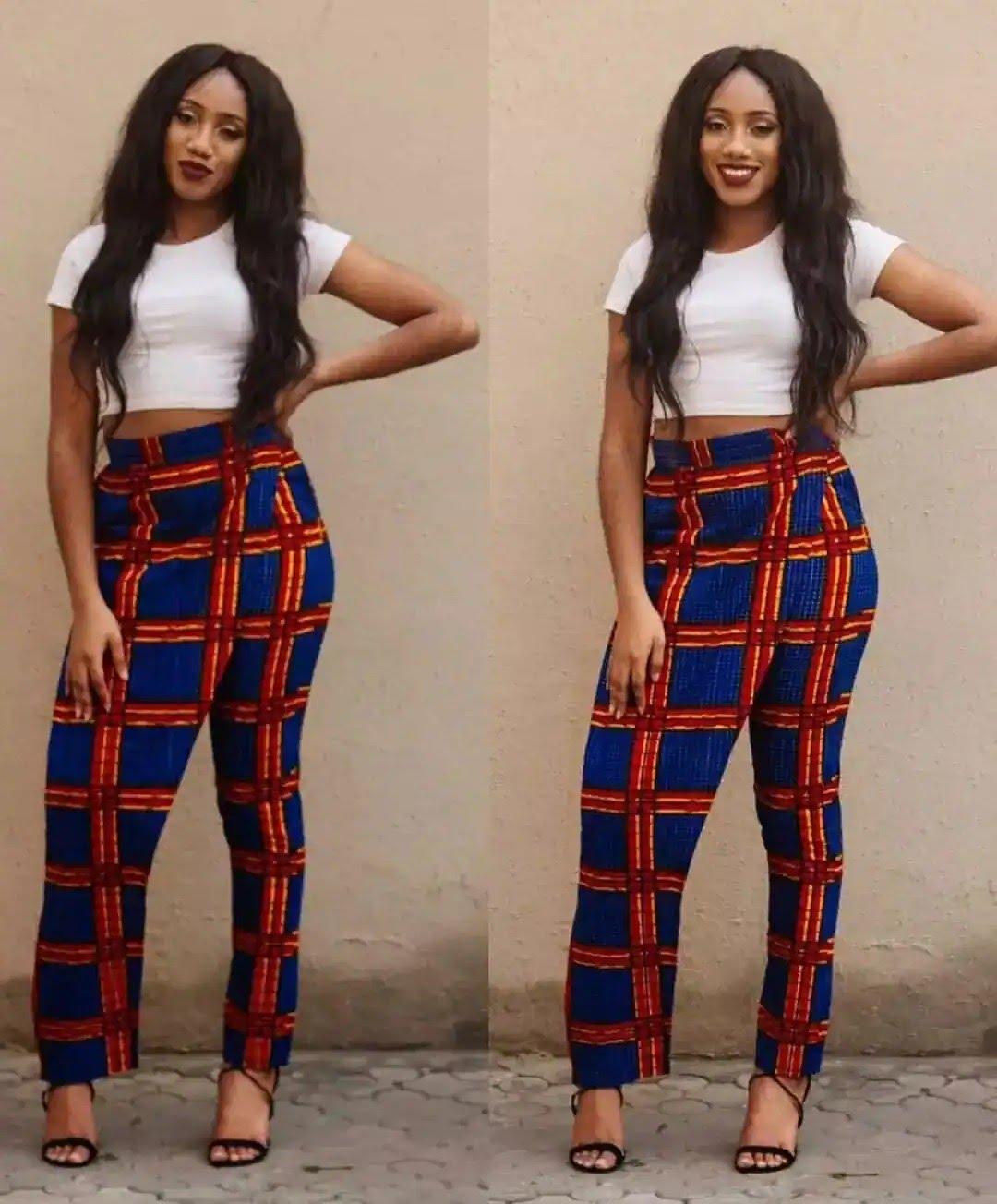 Latest Ankara pants styles for ladies in Nigeria