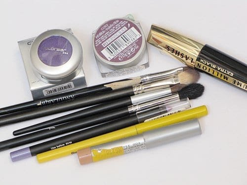 Smokey Purple Eye Makeup Tutorial Products